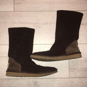 Ugg brown knit half Bailey women's 8 excellent con